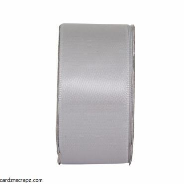 Ribbon 3m x 27mm Satin Soft Silver