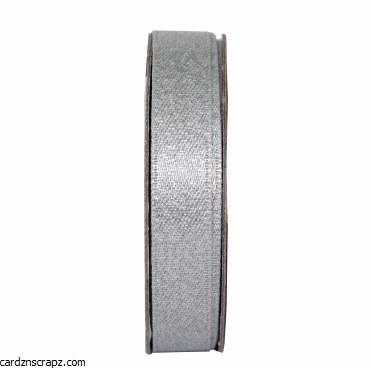 Ribbon 3m Glitter Satin Silver
