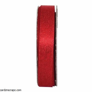 Ribbon 3M Glitter Satin Radient Red