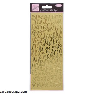 Outline Alphabet Gold