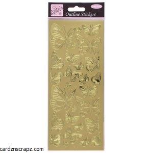Outline Butterfly Gold