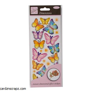 3D Stickers Spring Butterflies