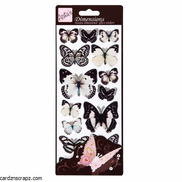 3D Stickers Wings White