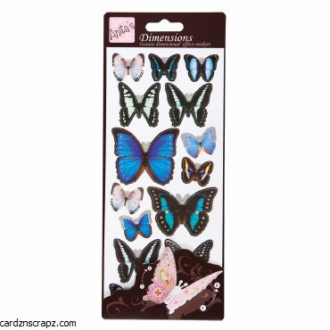 3D Stickers Wings Blue