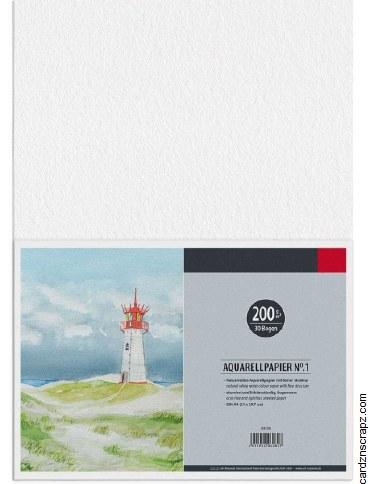 Watercolour Paper A4 30pk 200g