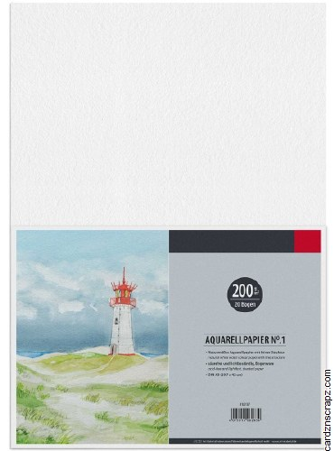 Watercolour Paper A3 20pk 200g