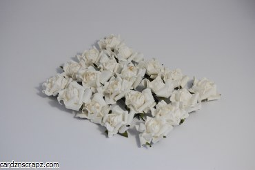 Paper Rose Heads x20 White