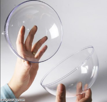 Bauble Clear Plastic 200mm/8""