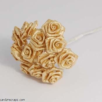 Mini Open Rose 12pk Iridescent Gold