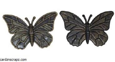 CAS Embellies Bronze Bfly 10pk