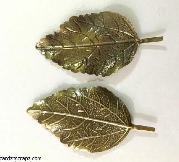 CAS Embellies Bronze Leaves x5