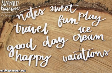 Chipboard Summer Words #1