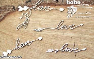 Chipboard Boho Small Arrows