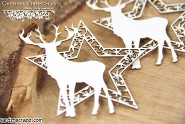 Chipboard Cherish Xmas Deers