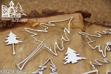 Chipboard Winter Trees