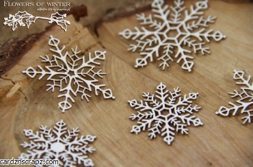 Chipboard Winter Snowflakes