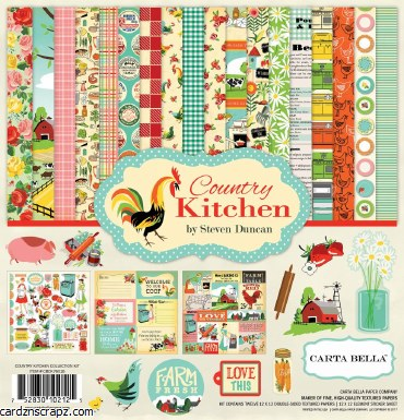 Paper Pk 12x12 CB Country Kitchen