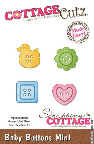 Cottagecutz Mini Baby Buttons