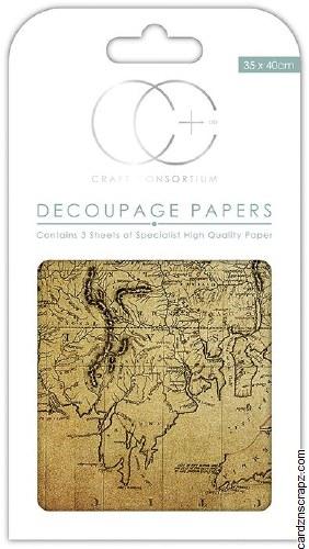 Decoupage Paper World Map #2 - Cardz \'n\' Scrapz