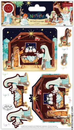 Decoupage 3D Craft Consortium Nativity
