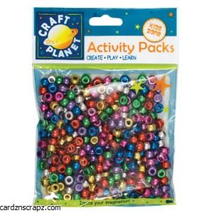 Beads Pony Asst Met 80g Bag