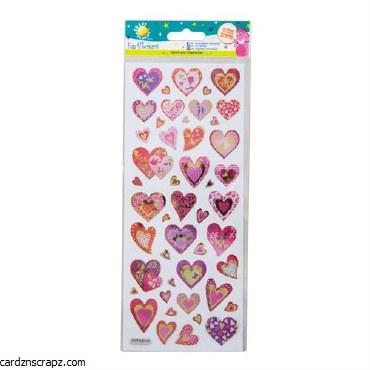 Fun Stickers Glitter Hearts