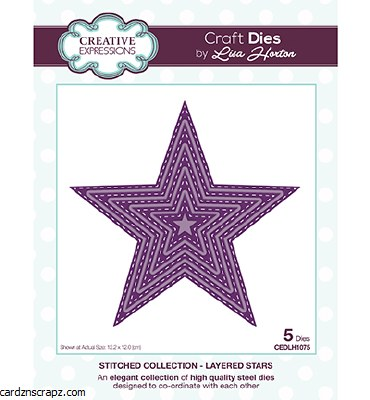 Creative Expressions Die Layered Stars