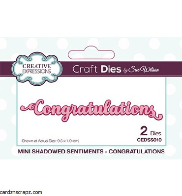 Creative Expressions Mini Shadowed Sentiments Congratulations