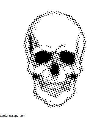 "Mask 7x7"" Creative Expressions Half Tone Skull"