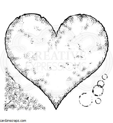 Clear Stamp Creative Expressions Torn Paper Heart