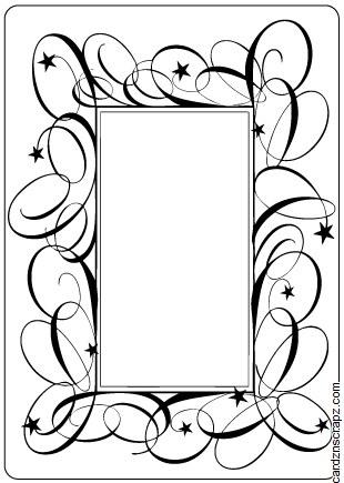 Embossing Folder Swirl Frame