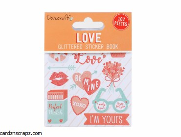 Stickers Dovecraft Love 102pk