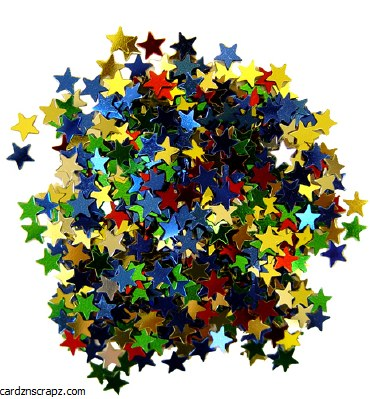 Glitter Stars 6mm 5g Asst Cols