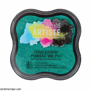 DoCrafts Pigment Ink Pad - Pearlescent Mantis Green