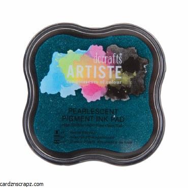 DoCrafts Pigment Ink Pad - Pearlescent Aqua