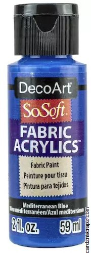 DecoArt SoSoft 59ml Blue Mediterranean