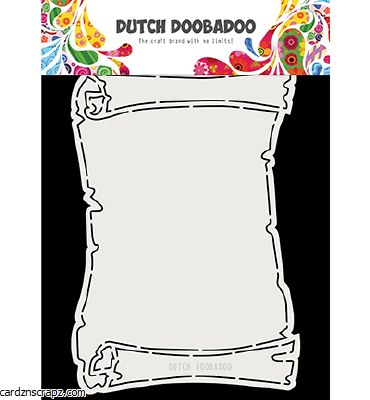 Stencil Dutch Doobadoo Fold Card Treasure Map