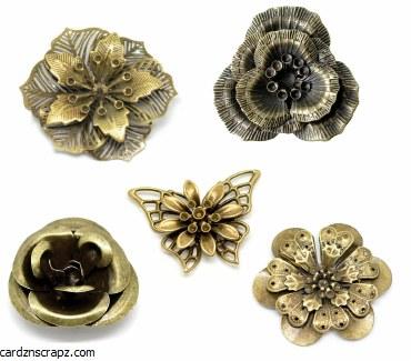CAS Embellies Bronze Flowers