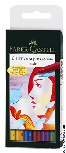 Pitt Brush Pens 6pk Asst
