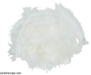 Feathers Marabou White 15pk