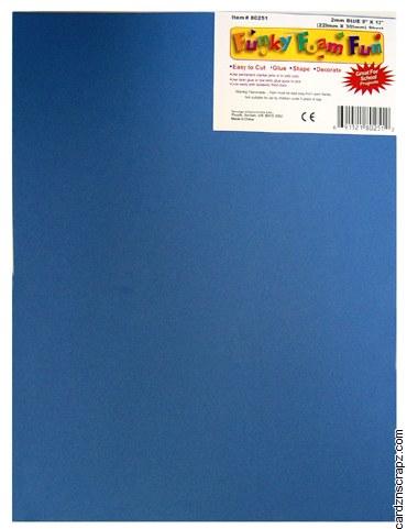 Foam Sheet 12x18in 2mm Blue