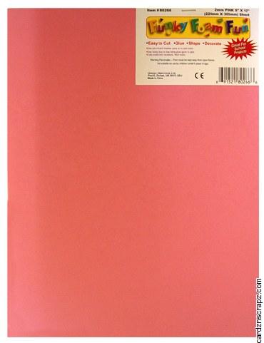 Foam Sheet 12x18in 2mm Pink