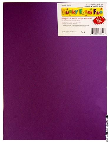 Foam Sheet 12x18in 2mm Purple