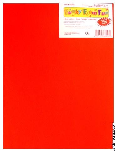 Foam Sheet 12x18in 2mm Red