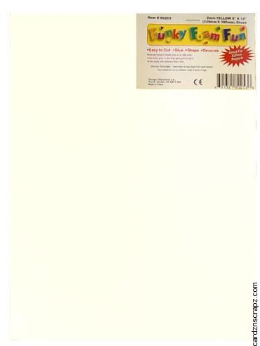 Foam Sheet 12x18in 2mm White