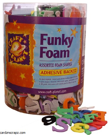 Foam Tub Assorted Letters & Numbers