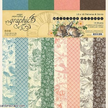 Paper Pk 12x12 Graphic 45 Pattern Wood