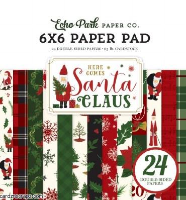 Paper Pk 6x6 Echo Park Santa Claus