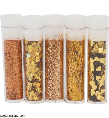 Glitter 5pk Asstorted Gold No.8612