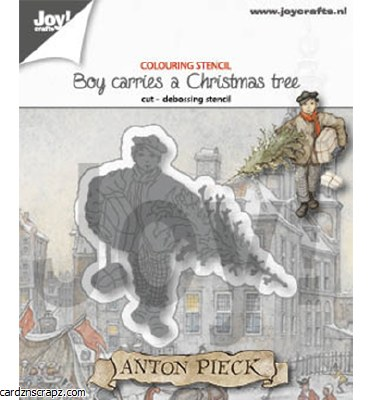 JoyCrafts Die Boy With A Christmas Tree